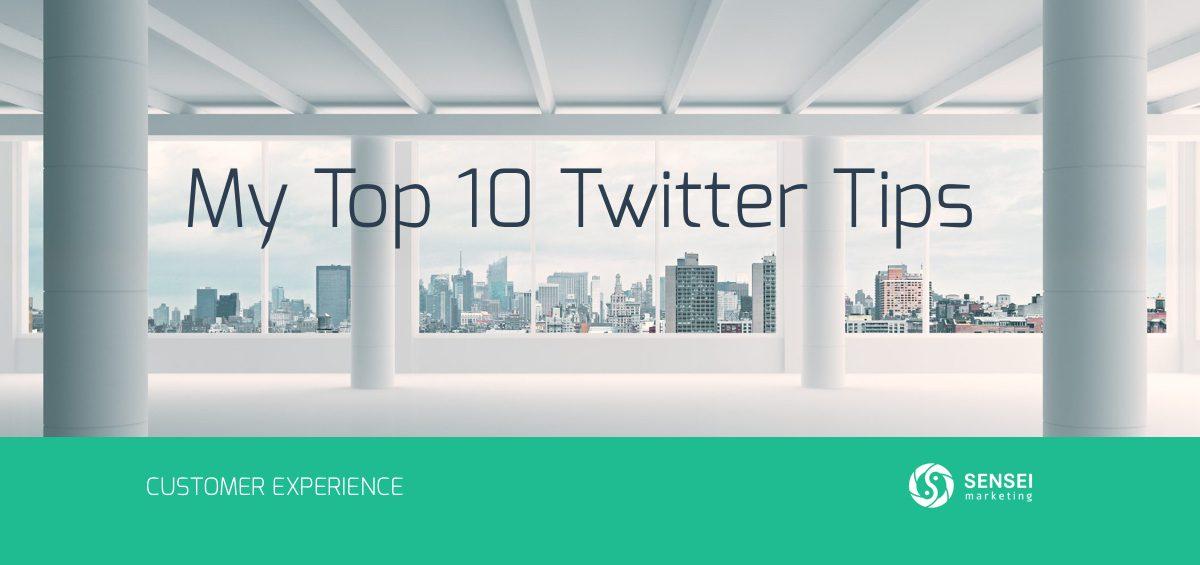 top 10 twitter tips