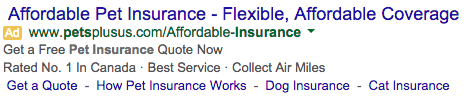 google pet insurance ad2