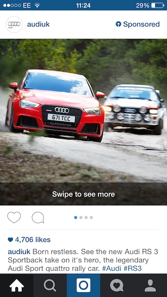 Instagram Swipe Ad