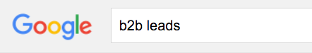 Google search for B2B leads