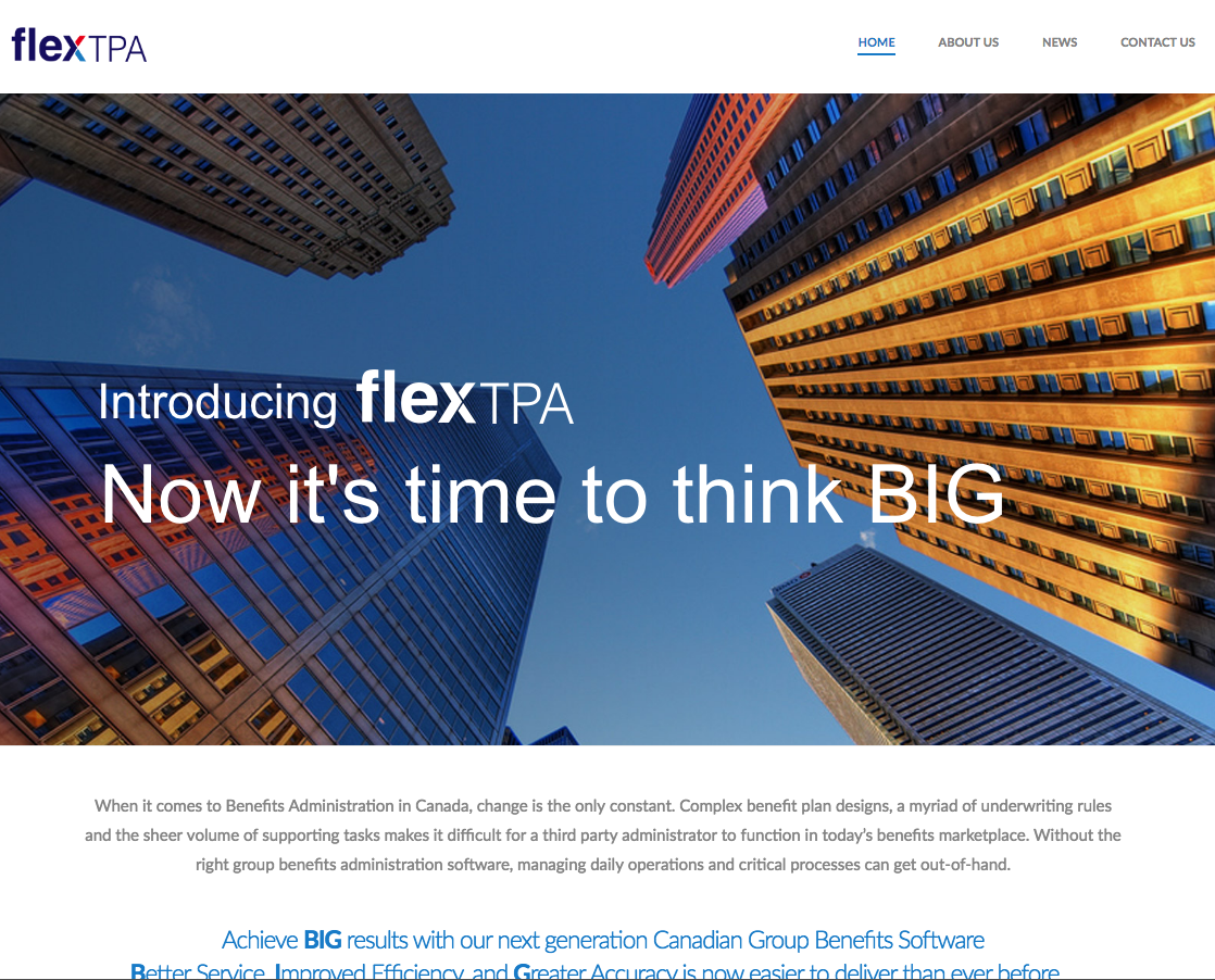 flextpa landing page example